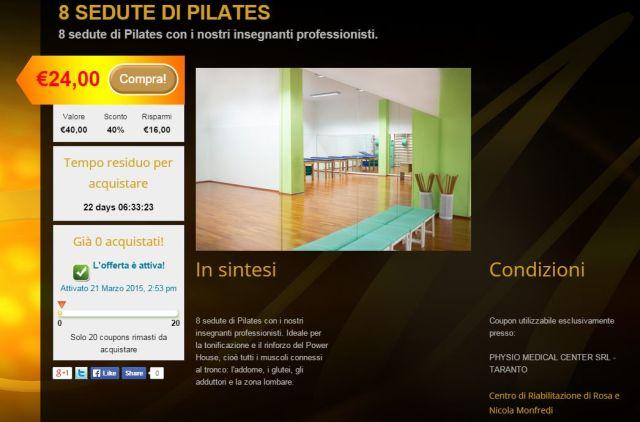 promozione Pilates physio medical center